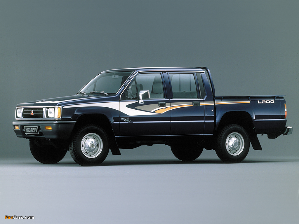 Mitsubishi L200 Double Cab 4WD 1986–96 pictures (1024 x 768)