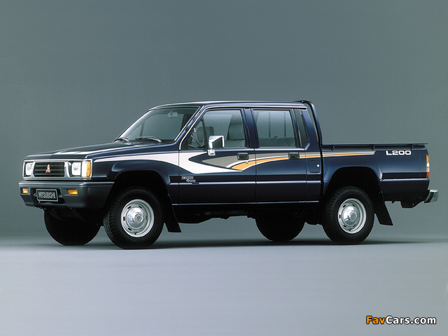 Mitsubishi L200 Double Cab 4WD 1986–96 pictures (640 x 480)