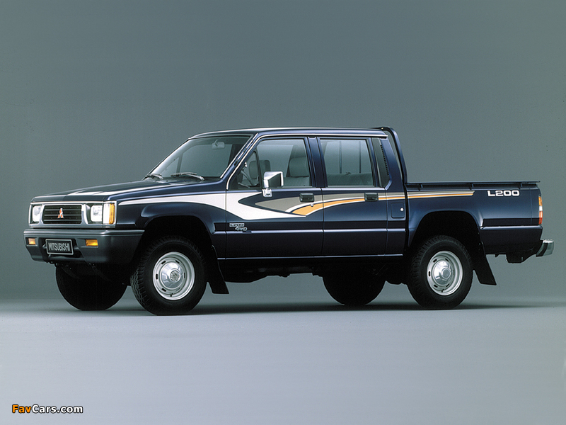 Mitsubishi L200 Double Cab 4WD 1986–96 pictures (800 x 600)