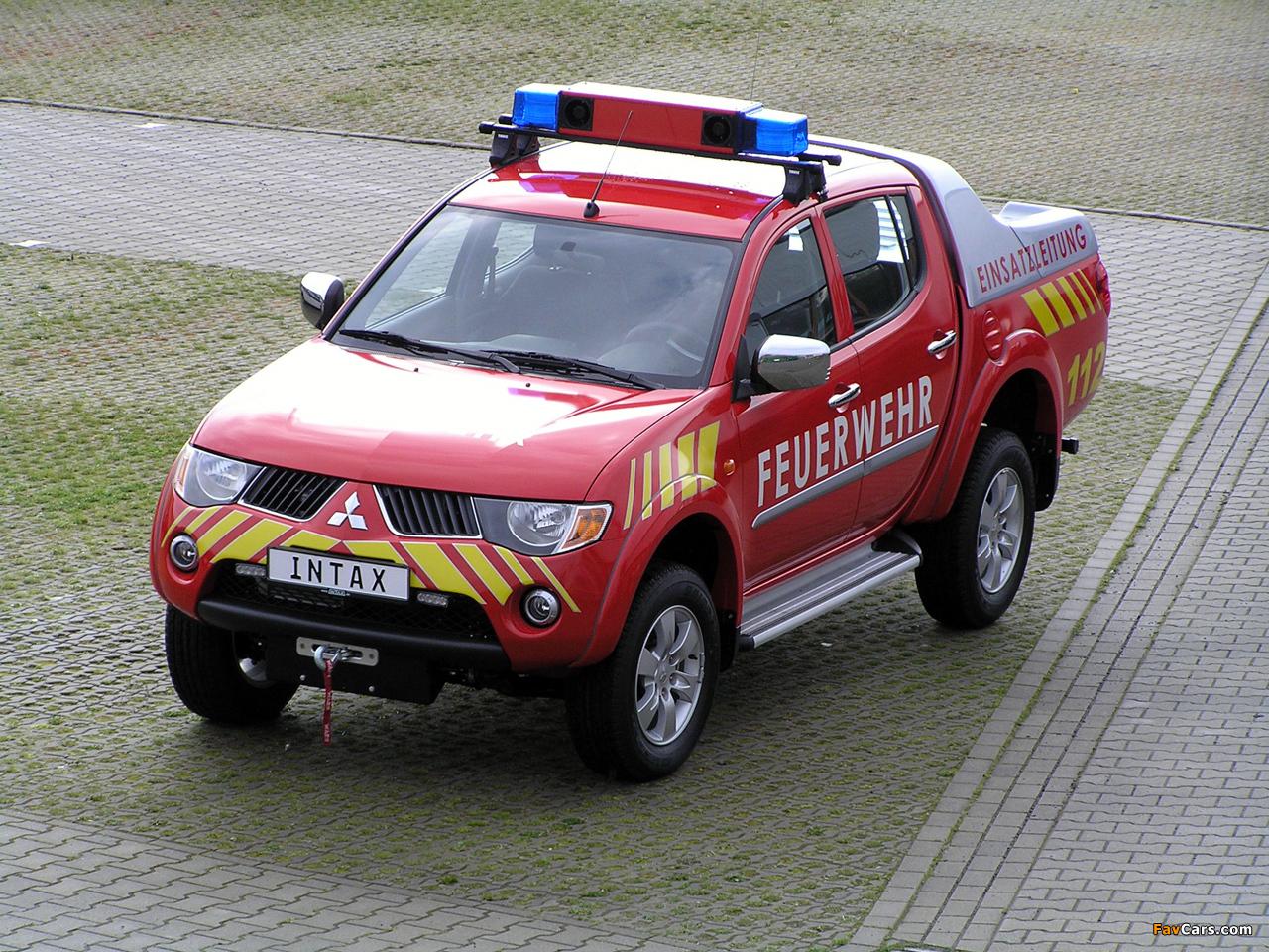Mitsubishi L200 Double Cab Feuerwehr 2006–10 images (1280 x 960)