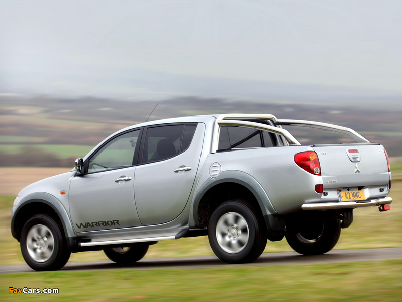 Mitsubishi L200 Double Cab Warrior 2006–10 photos (800 x 600)