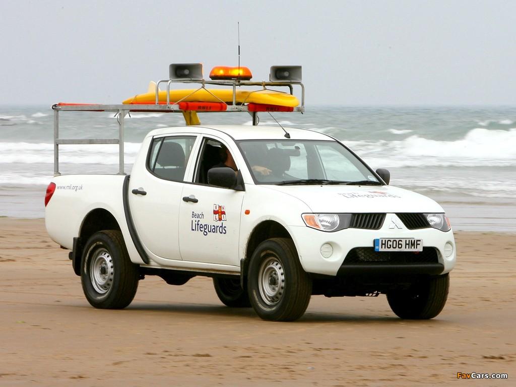 Mitsubishi L200 Beach Lifeguards 2006–10 wallpapers (1024 x 768)