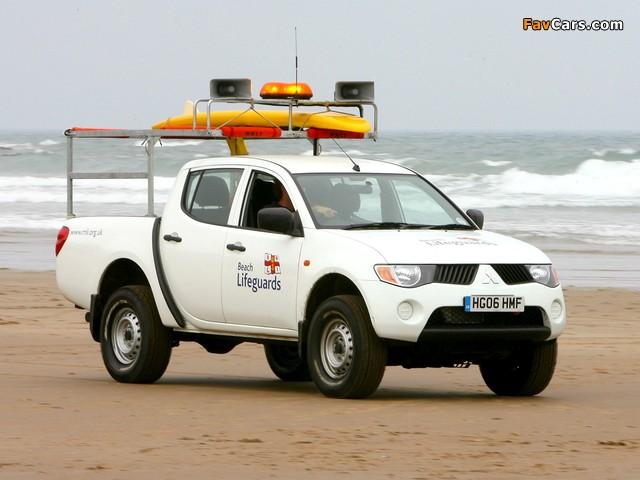 Mitsubishi L200 Beach Lifeguards 2006–10 wallpapers (640 x 480)