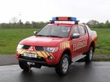 Photos of Mitsubishi L200 Double Cab Feuerwehr 2006–10
