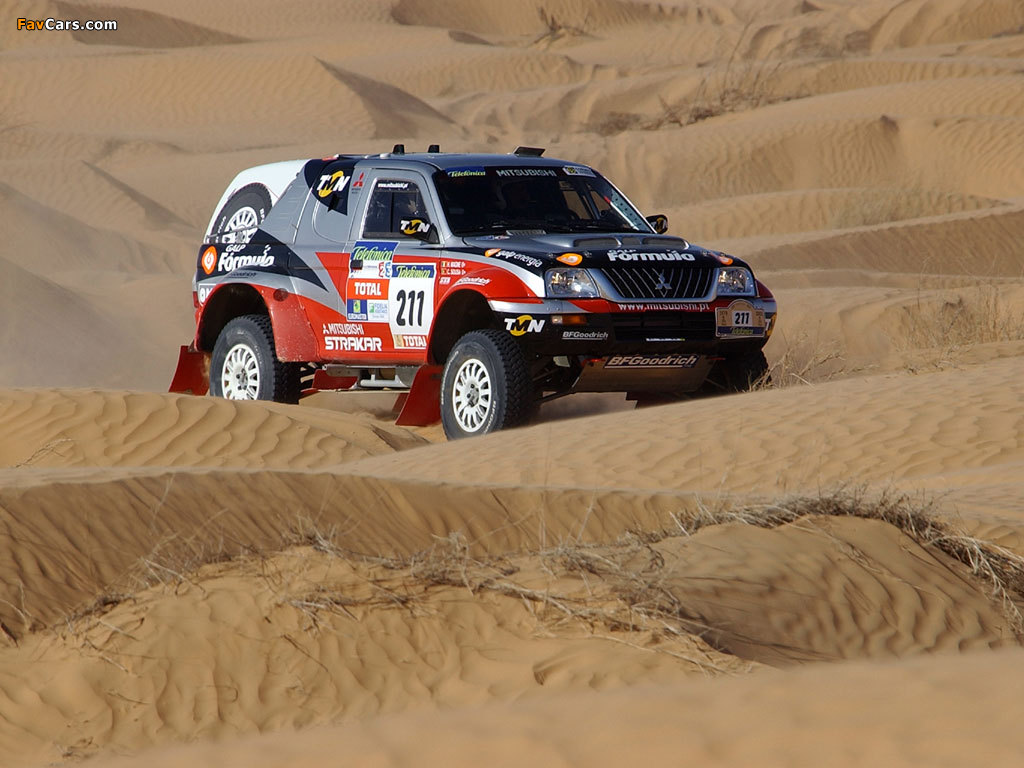 Pictures of Mitsubishi L200 Strakar Super Production Cross-Country Car 2003 (1024 x 768)