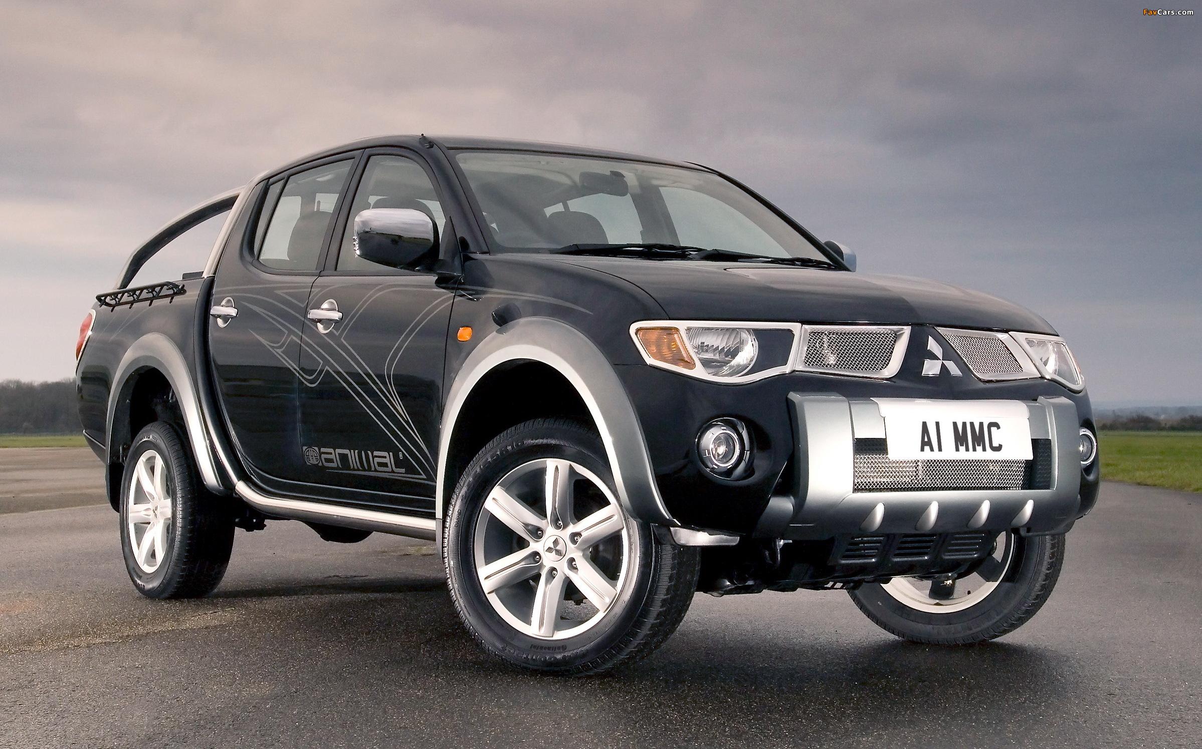 Pictures of Mitsubishi L200 Animal UK-spec 2006–10 (2398 x 1495)