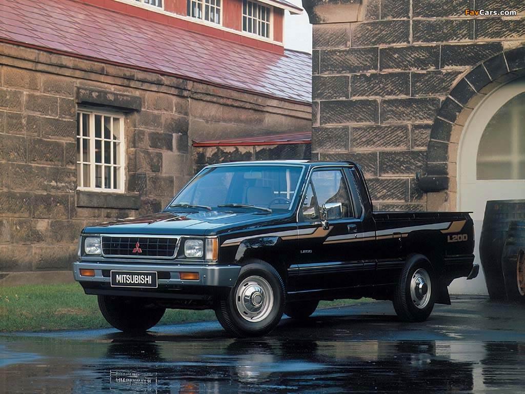 Mitsubishi L200 Single Cab 1986–96 wallpapers (1024 x 768)