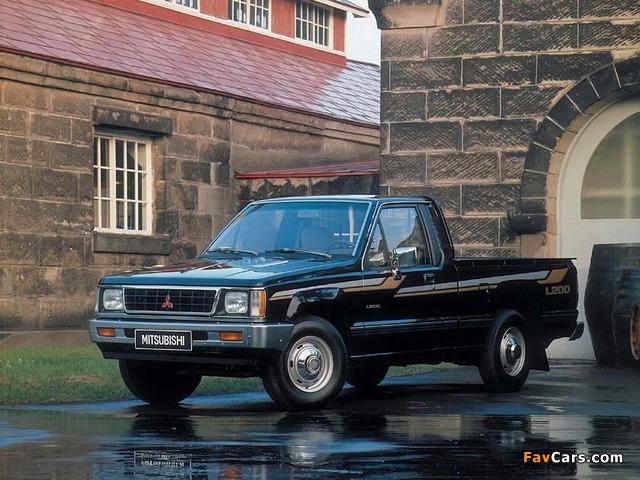Mitsubishi L200 Single Cab 1986–96 wallpapers (640 x 480)