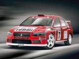 Mitsubishi Lancer Evolution VII WRC 2001–03 wallpapers