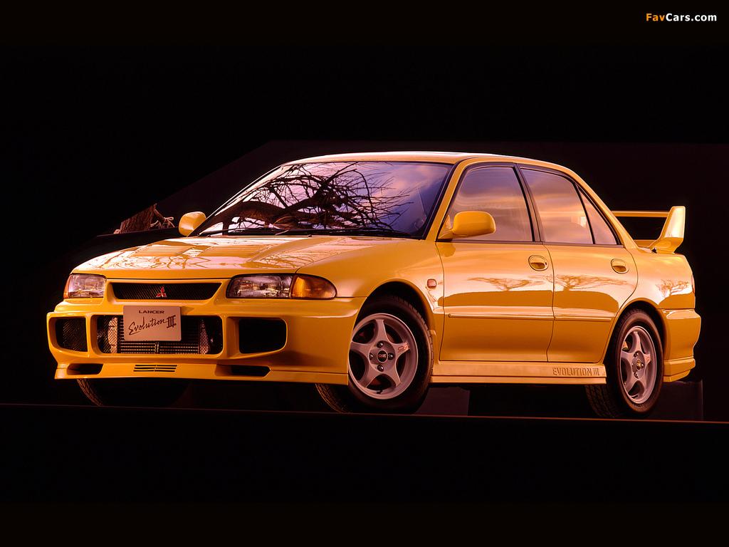 Mitsubishi Lancer GSR Evolution III (CE9A) 1995 wallpapers (1024 x 768)