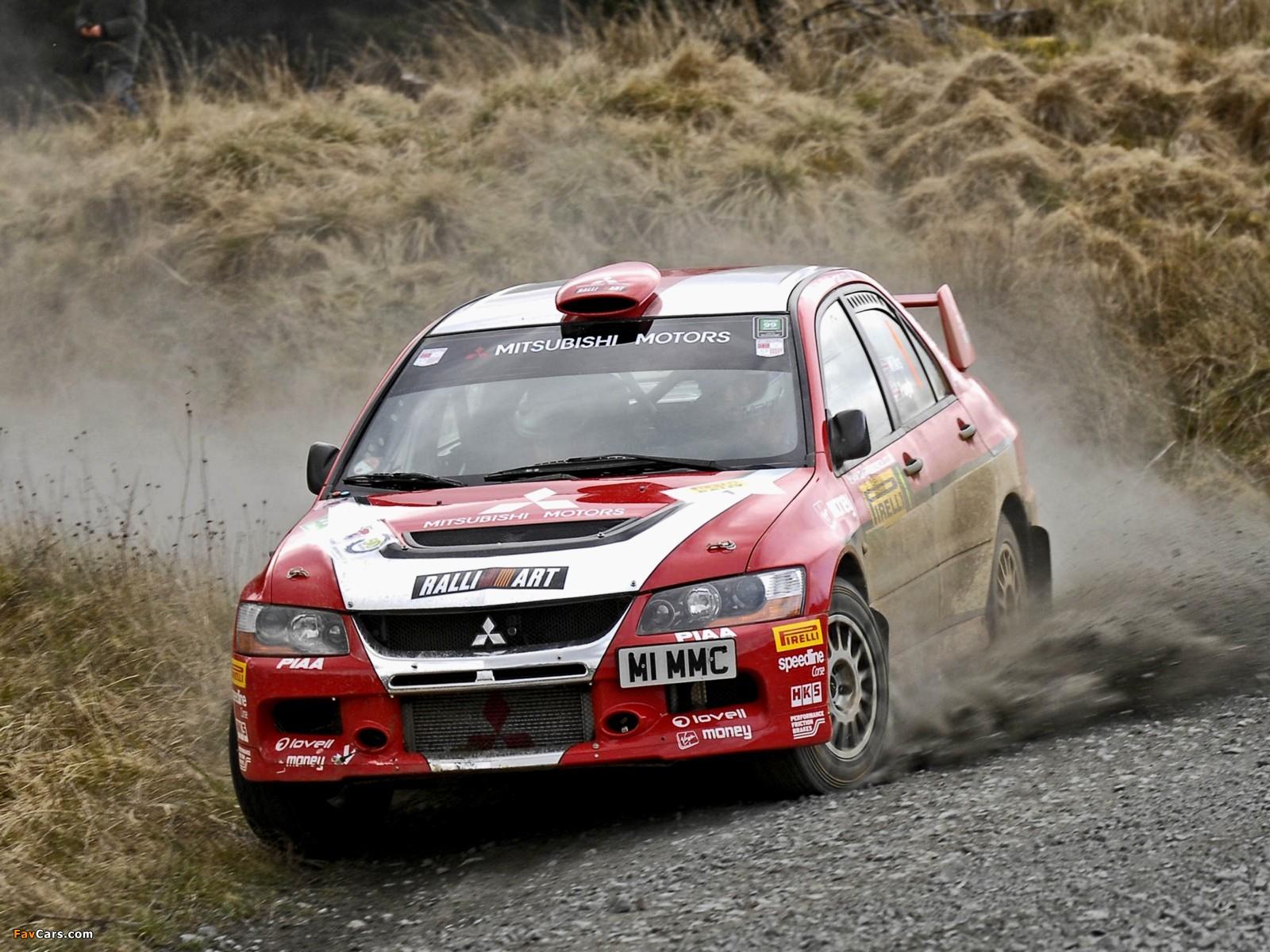 Mitsubishi Lancer Evolution IX Race Car 2005–07 photos (1600x1200)