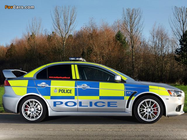 Mitsubishi Lancer Evolution X Police 2008 images (640 x 480)