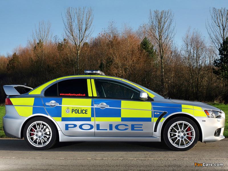 Mitsubishi Lancer Evolution X Police 2008 images (800 x 600)
