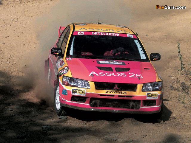 Photos of Mitsubishi Lancer Evolution VII WRC 2001–03 (640 x 480)