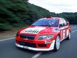 Pictures of Mitsubishi Lancer Evolution VII WRC 2001–03