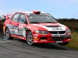 Mitsubishi Lancer Evolution IX Race Car 2005–07 wallpapers