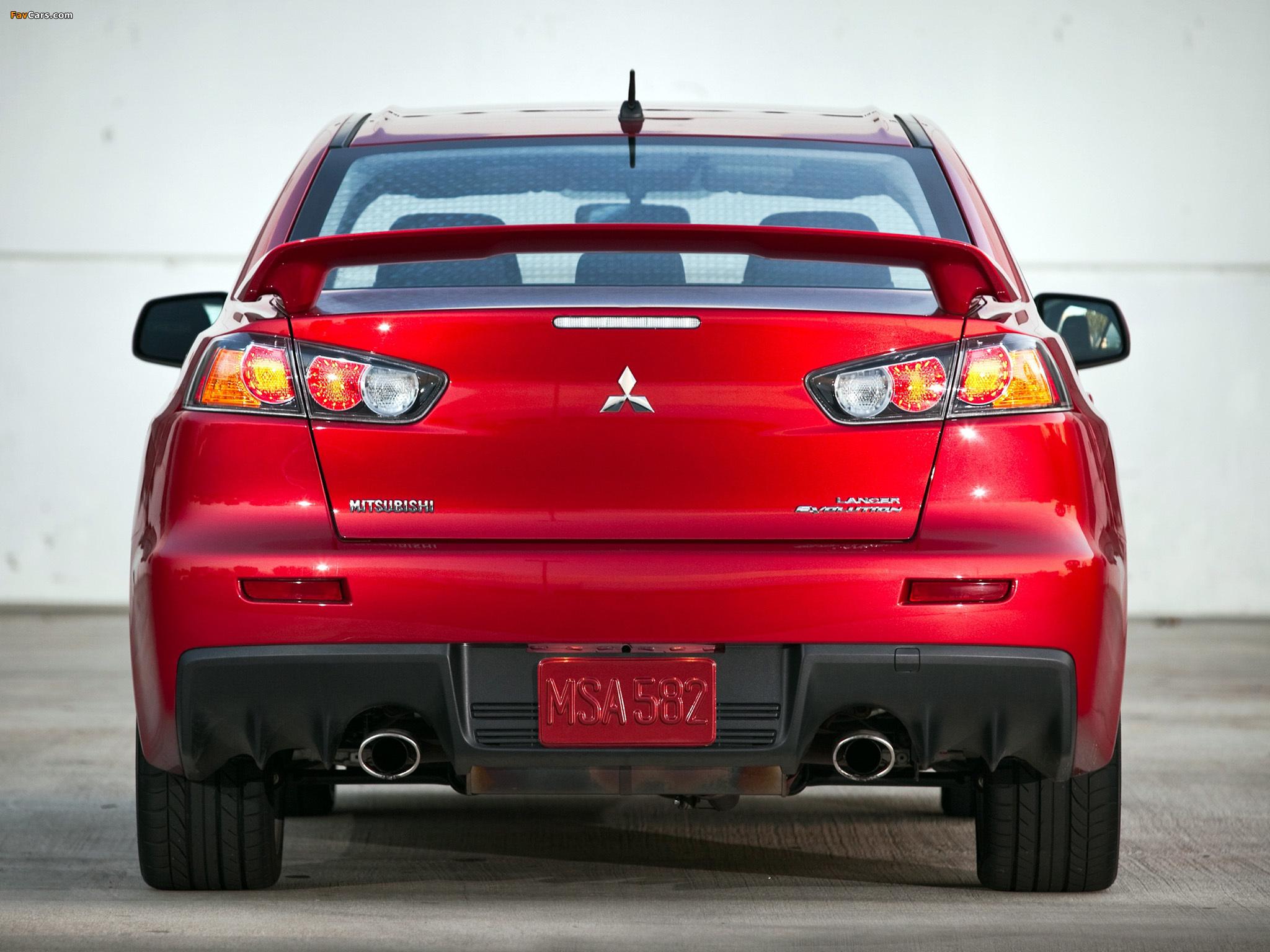 Mitsubishi Lancer Evolution GSR US-spec 2008 wallpapers (2048 x 1536)