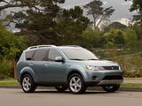 Photos of Mitsubishi Outlander US-spec 2007–09