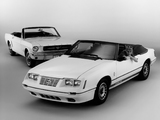 Ford Mustang 1964 & Ford Mustang GT 350 Convertible 1984 wallpapers