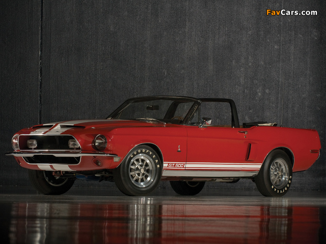 Shelby GT500 Convertible 1968 photos (640 x 480)