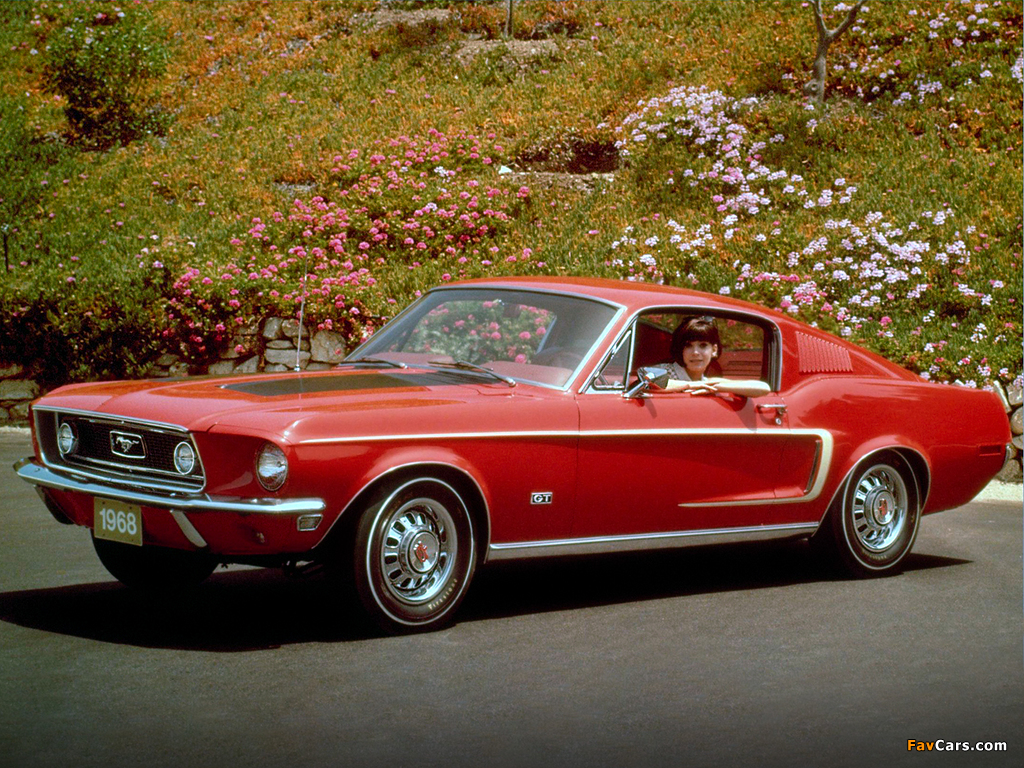 Photos of Mustang GT Fastback 1968 (1024 x 768)