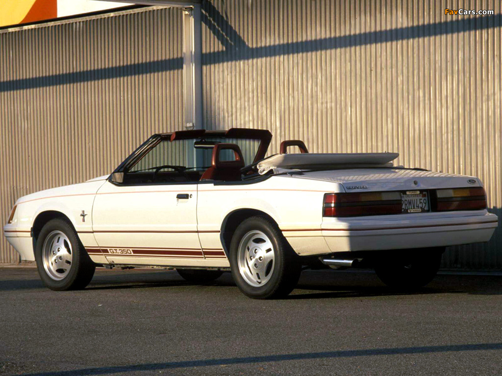 Mustang GT350 Turbo Convertible Anniversary Edition 1984 pictures (1024 x 768)