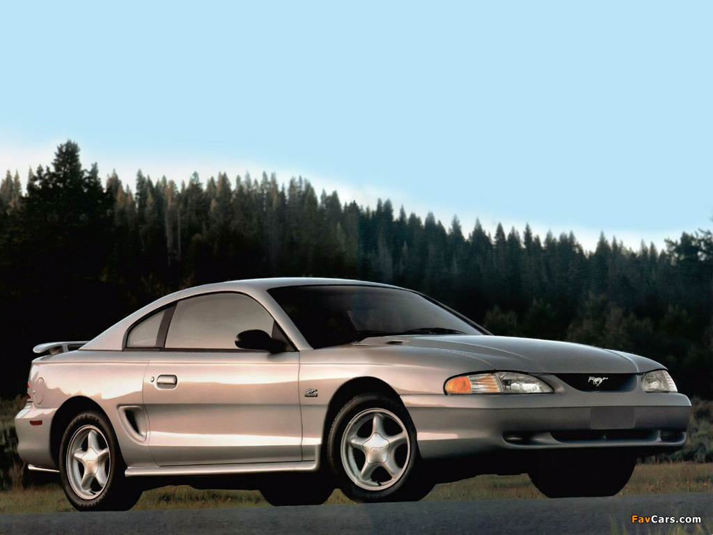 Mustang GT Coupe 1993–96 wallpapers (1024 x 768)
