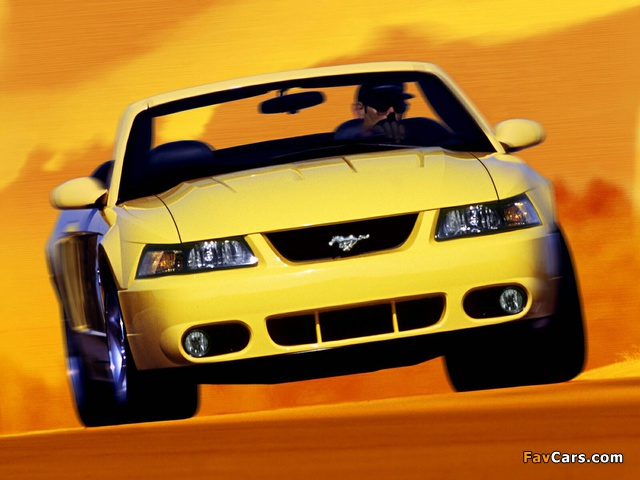 Mustang SVT Cobra Convertible 2002–04 wallpapers (640 x 480)