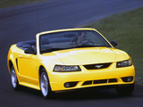 Photos of Mustang SVT Cobra Convertible 1999–2002