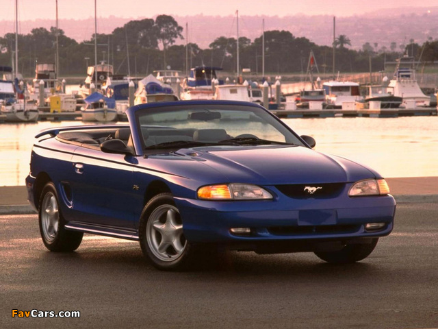 Pictures of Mustang Convertible 1996–98 (640 x 480)