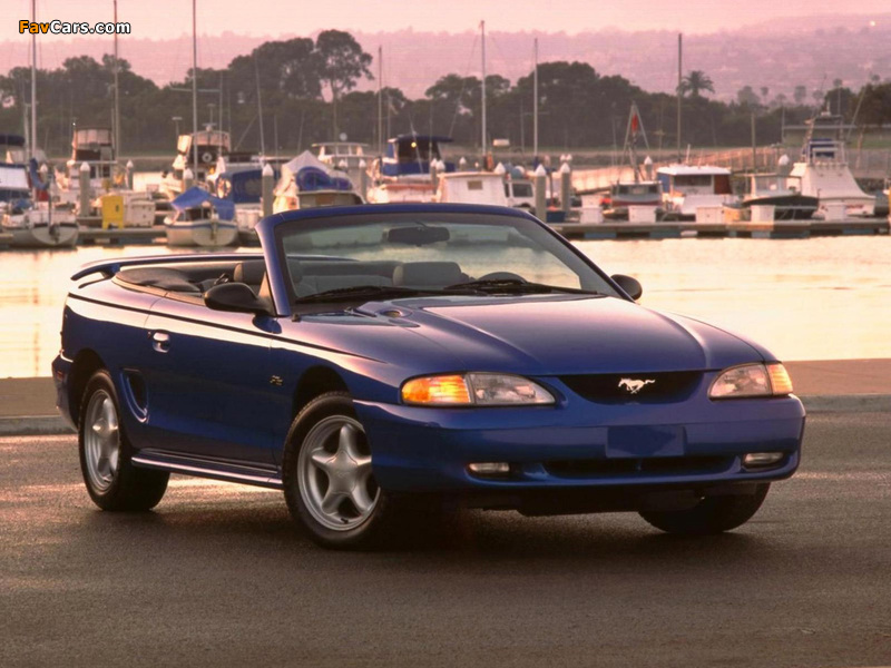 Pictures of Mustang Convertible 1996–98 (800 x 600)