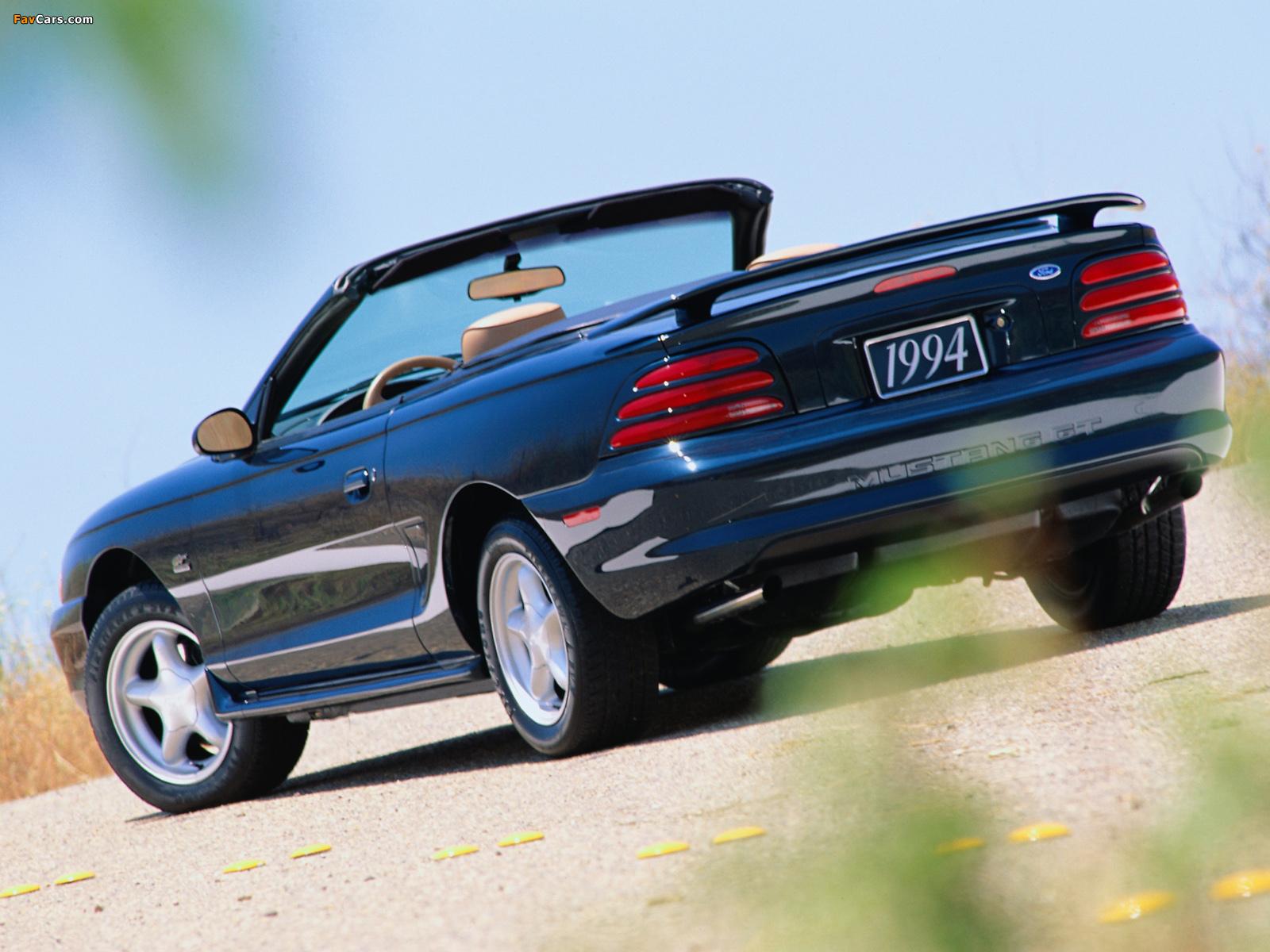 Mustang Convertible 1993–98 wallpapers (1600 x 1200)
