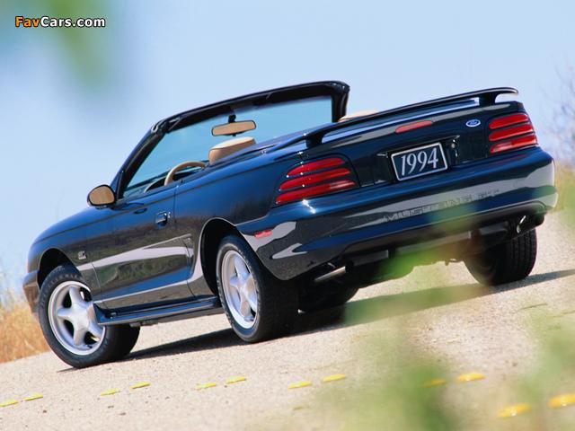 Mustang Convertible 1993–98 wallpapers (640 x 480)