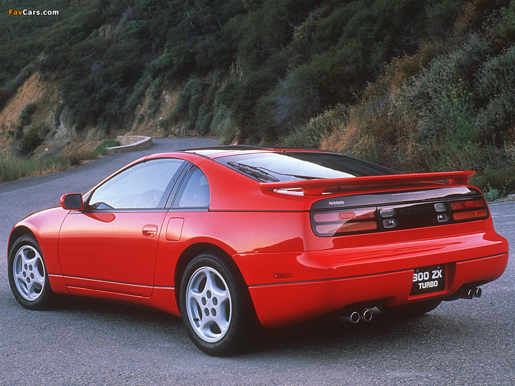 Images of Nissan 300ZX Twin Turbo T-Top US-spec (Z32) 1993–96 (1024 x 768)