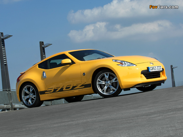 Nissan 370Z Yellow 2009 pictures (640 x 480)