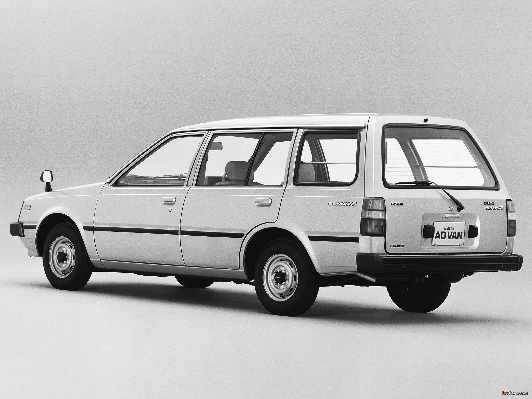 Nissan Sunny AD Van (VB11) 1985–90 images (2048 x 1536)
