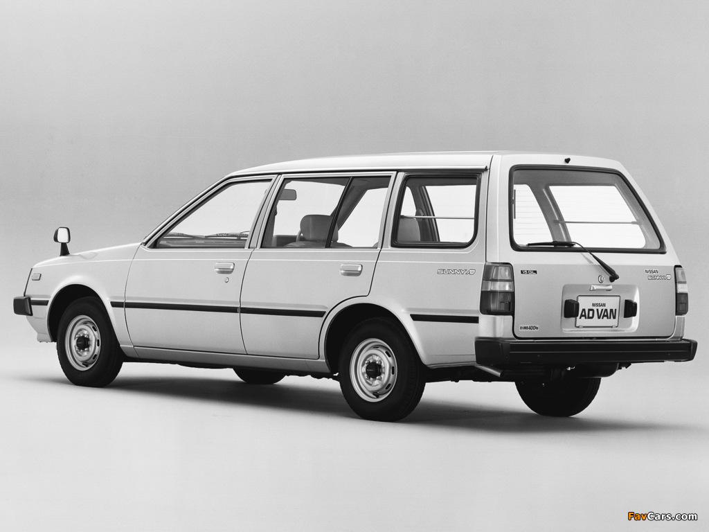 Nissan Sunny AD Van (VB11) 1985–90 images (1024 x 768)