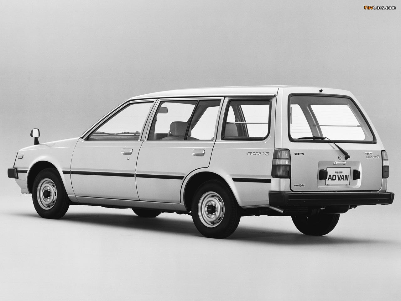 Nissan Sunny AD Van (VB11) 1985–90 images (1280 x 960)