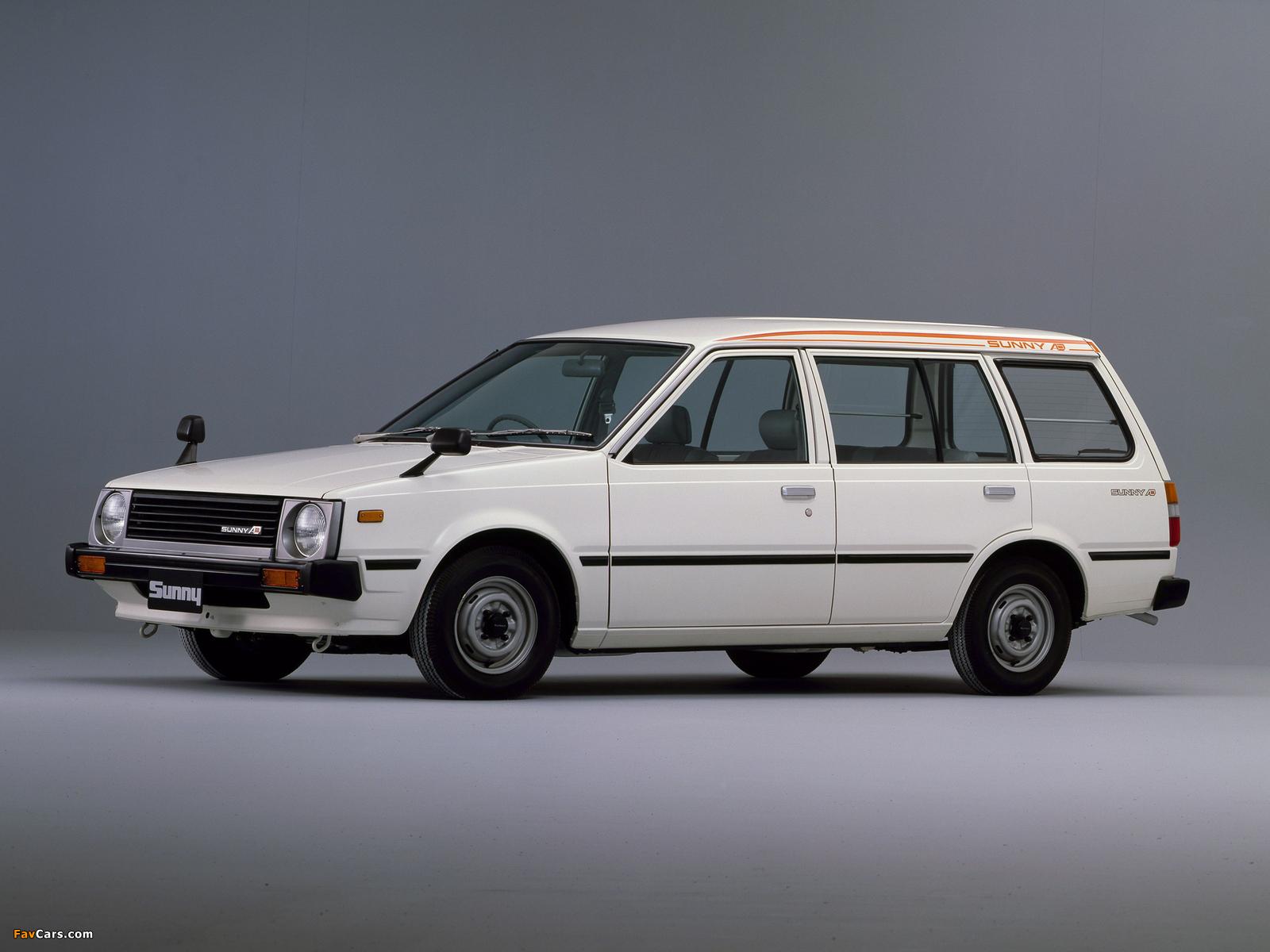 Nissan Sunny AD Van (VB11) 1982–85 wallpapers (1600 x 1200)