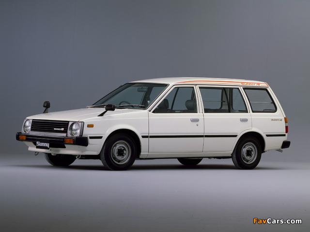 Nissan Sunny AD Van (VB11) 1982–85 wallpapers (640 x 480)