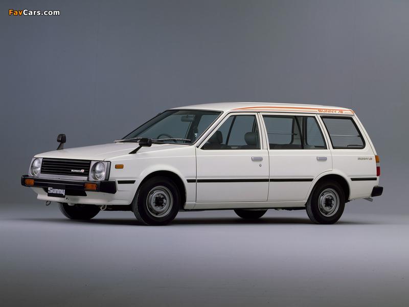 Nissan Sunny AD Van (VB11) 1982–85 wallpapers (800 x 600)