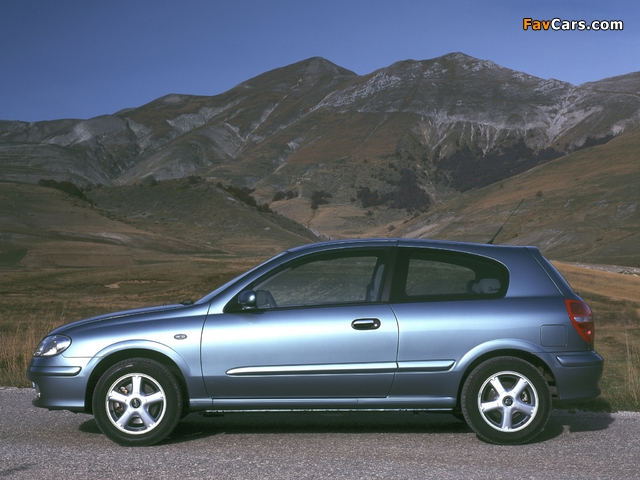 Nissan Almera 3-door (N16) 2000–03 wallpapers (640 x 480)