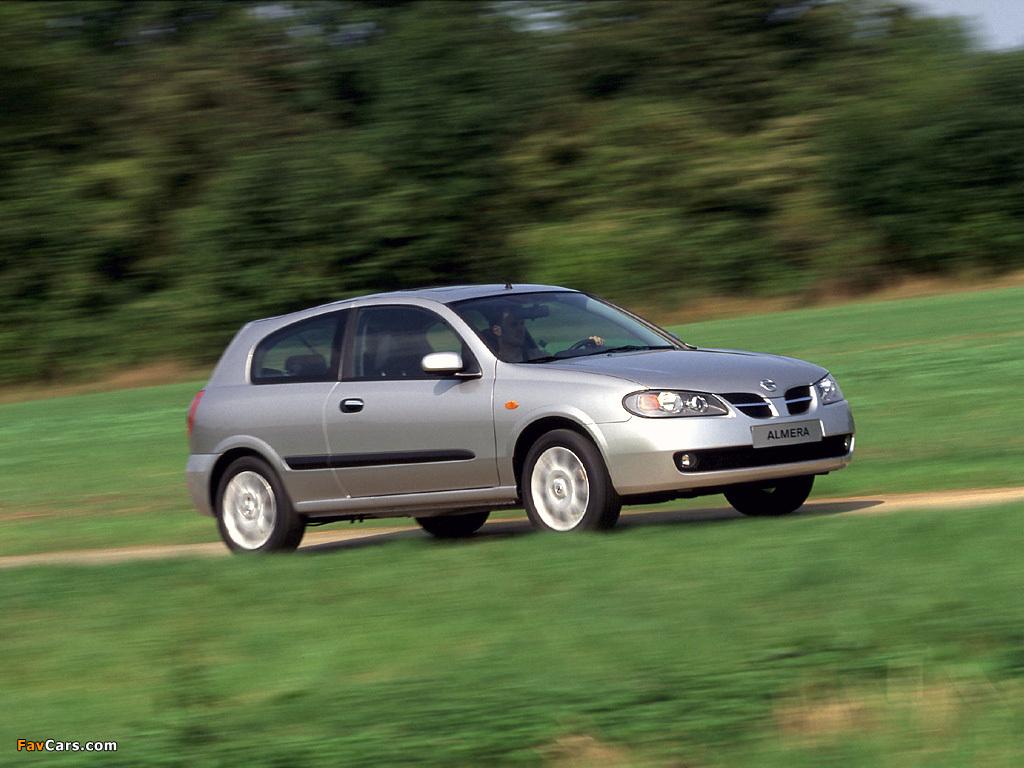 Nissan Almera 3-door (N16) 2003–06 pictures (1024 x 768)