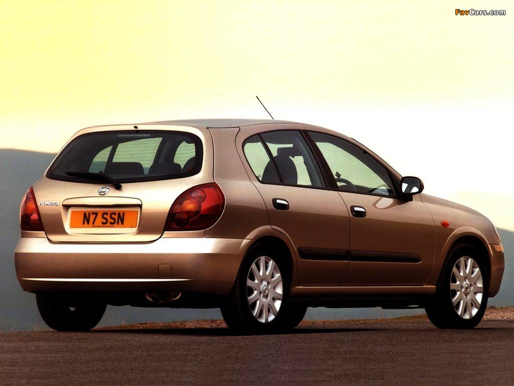 Nissan Almera 5-door UK-spec (N16) 2003–06 wallpapers (1024 x 768)
