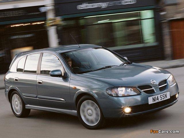 Nissan Almera 5-door UK-spec (N16) 2003–06 wallpapers (640 x 480)