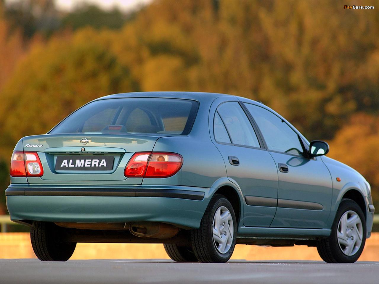 Photos of Nissan Almera Sedan ZA-spec (N16) 2000–03 (1280 x 960)