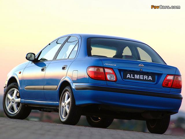 Nissan Almera Sedan ZA-spec (N16) 2000–03 wallpapers (640 x 480)