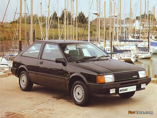 Nissan Cherry Europe 3-door (N12) 1983–86 photos (640 x 480)