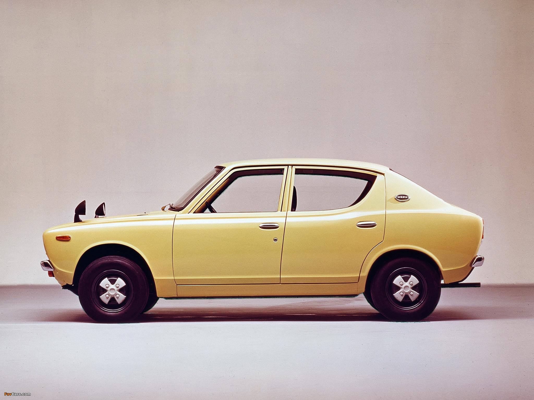 Pictures of Nissan Cherry 4-door Sedan (E10) 1970–74 (2048 x 1536)
