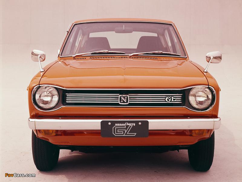 Pictures of Nissan Cherry GL 2-door Sedan (E10) 1970–74 (800 x 600)